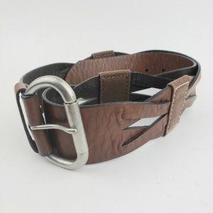 Gap Jeans 1969 Brown Leather Belt Womens M Medium